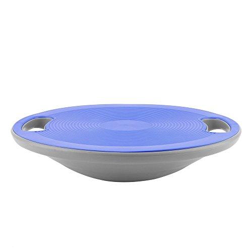 YKS Balance Board mit Griffen und rutschfester Oberfläche als Kreisel, Therapiekreisel, Wackelbrett, Balancegerät für Fitness, Durchmesser ca. 40cm Höhe ca. 10cm Maximale Belastung: 120 kg (Blau)