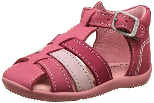 Kickers Bigfly, Chaussures Bébé marche bébé fille Rose (Rose Rose Clair Fuchsia)