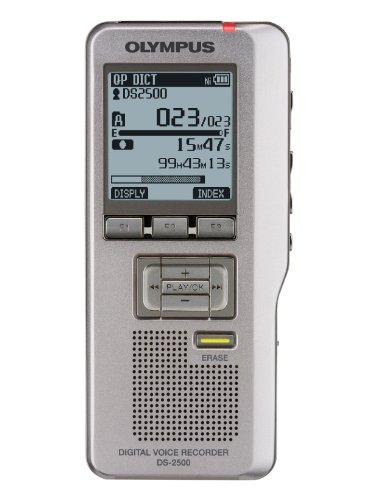Olympus DS-2500 Diktiergerät (inklusiv USB Kabel, Tasche, Diktatmanagement Software und SD-Karte)