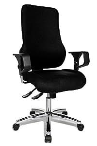Topstar SD69XL50 Sitness 55 inklusive höhenverstellbare Armlehnen, Bezugsstoff, schwarz