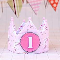 Corona niña princesa, corona de tela para cumpleaños niña ...