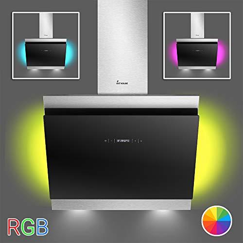 Dunstabzugshaube Wandhaube 60cm / RGB Ambiente Beleuchtung/kopffrei/extra leise / BICOLORE60SM / KKT KOLBE
