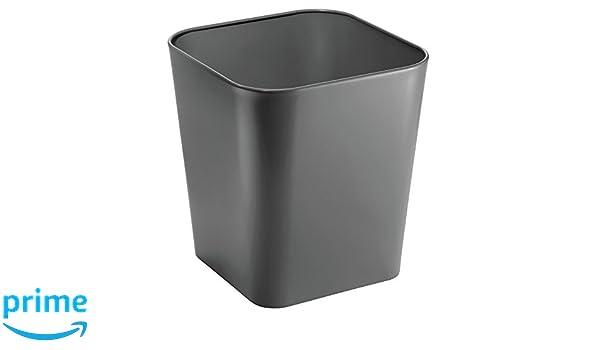 Cestini Rifiuti Da Bagno : Mdesign cestino bagno u2013 elegante secchio in metallo per immondizia