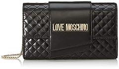 Idea Regalo - Love Moschino Borsa Quilted Nappa Pu, Pochette da Giorno Donna, Nero (Nero), 13x23x6 cm (W x H x L)