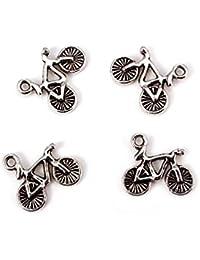 RUBY-Dijes de Bicicletas Charm Bicicletas Zamak para Pulseras y Collares