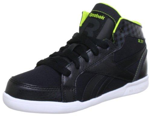 Reebok SL211 J97551 Unisex-Kinder Sneaker Schwarz (BLACK/GRAVEL/SOLAR GREEN)