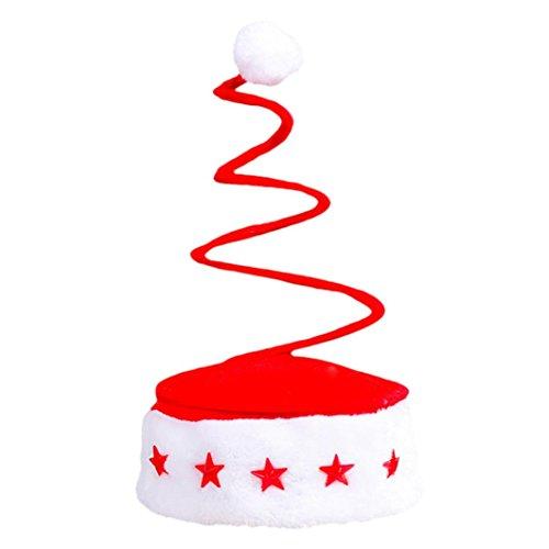 Hot Weihnachtsmütze Transer® Unisex Plüsch Rot Weihnachten Accessory Schick Kostüm Hut Cap Mützen Sankt Neuheit Hut für Weihnachtsfeier Größe: 17.5x39cm (C) (Baseball Jersey Armee)
