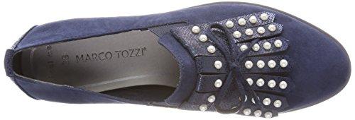 Marco Tozzi 24703, Mocassins Femme Bleu (Navy Comb)