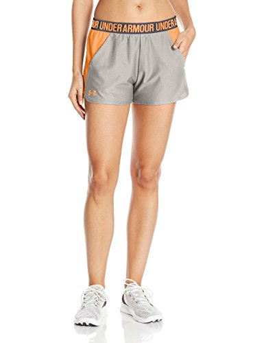 Under armour – play up short 2.0 pantaloni corti, donna, play up short 2.0, true gray heather, s