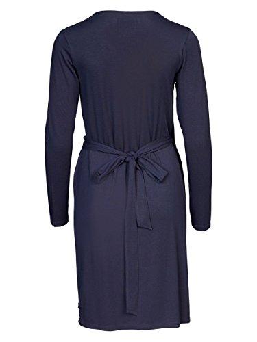 DAILY'S KERRIE Damen Wickelkleid mit V-Ausschnitt aus Lyocell und Elasthan - soziale fair trade Kleidung, Mode vegan und nachhaltig Color midnight, Size S - 2