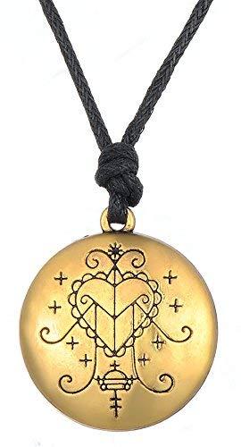 Vintage Amuleto Ezili Freda vudu Veve colgante Vodoun Lwa de amor Talisman joyas para hombres mujeres