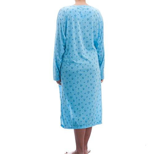 Lucky chemise de nuit à manches longues avec imprimé dans de grandes tailles 3XL homme Bleu - Bleu