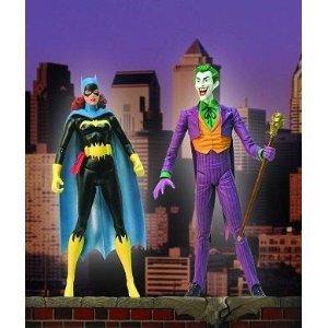 Classic Silver Age Batgirl & Joker Deluxe Action Figure Set by DC Comics