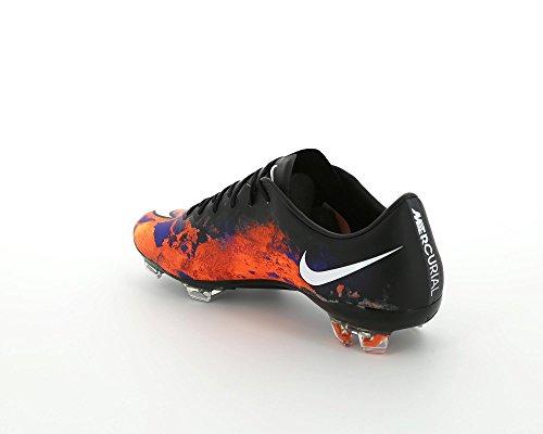 Nike Mercurial Vapor X Cr FG, Scarpe da Calcio Uomo Multicolore (Negro / Blanco / Rojo / Plateado (Blk / White-Ttl Crmsn-Mtllc Slvr))