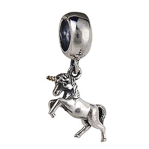 Soulbead Breloque licorne pour bracelet ou pendentif Argent Sterling 925