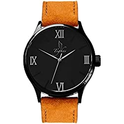 Tighes Men's Fashion Swiss Quartz Wrist Watch With Leather Strap