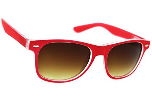 Damen Herren Lesebrille Sonnenbrille +Zip Case +1.5 +2.0 +3.0 +4.0 Slim Sun Readers Perfekt für den Urlaub Retro Vintage Brille MFAZ Morefaz Ltd (+3.00 Sun, Red)