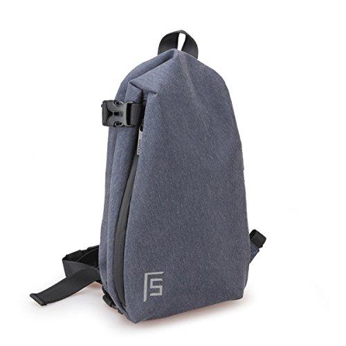Borsa A Tracolla Maschile Borsa Sportiva Per Il Tempo Libero Borsa Uomo Messenger Bag Moda Giovani Studenti Piccoli Zaino Blue