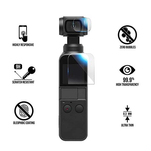 YANSHG® Für DJI Osmo Pocket Tempered Glass Lens + Tempered Glass Screen Protector, Anti-kratzen Ultra Clear 9H 2.5D Uhr gehärtetem Glas Protektor