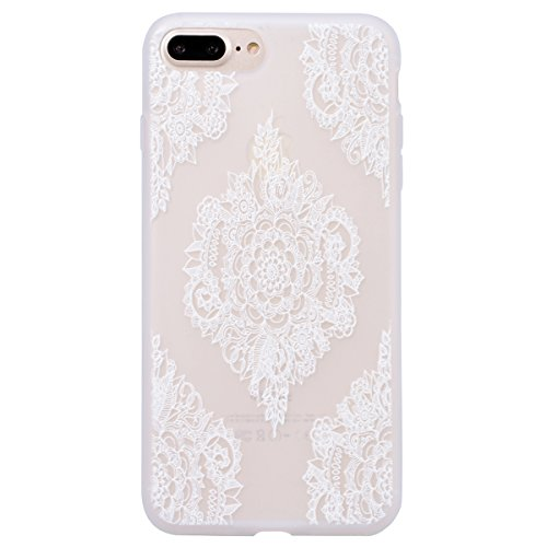 WE LOVE CASE iPhone 7 Plus / 8 Plus Cover 3D Macchia Sollievo Mappa iPhone 7 Plus / 8 Plus 5,5 Custodia Colore Case Silicone Soft Flessibile Elegant Belle Protettiva , Antiurto Ultraslim Bumper , TPU Mandala