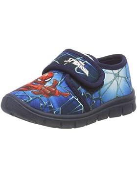 Spiderman Boys Kids Houseshoes Velcro Low, Zapatillas de Estar por casa para Niños
