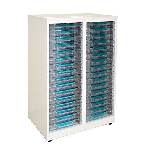 Vesalia Stahl Schubladenschrank Transparente Schübe Rollcontainer für Den Schreibtisch (T-232)