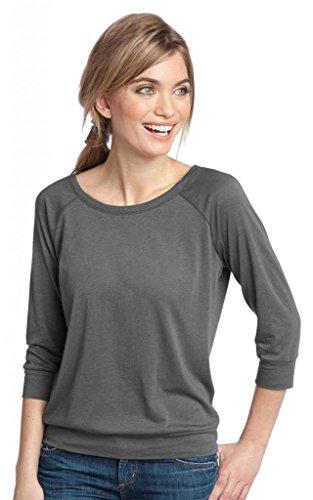 District Made Damen Modal-Mischgewebe 3/4Sleeve Raglan grau - Warm Grey