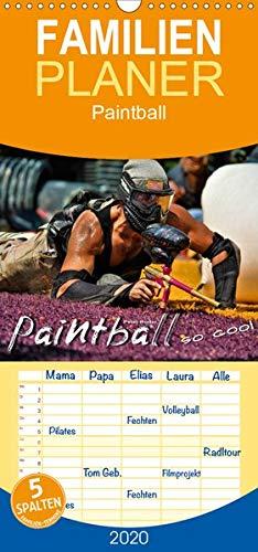 Paintball - so cool - Familienplaner hoch (Wandkalender 2020 , 21 cm x 45 cm, hoch): Paintball - Action, Spaß und Spannung. (Monatskalender, 14 Seiten )
