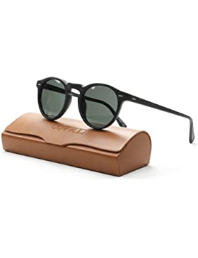 Oliver Peoples - GREGORY PECK SUN OV 5217/S, Redondo, acetato, hombre, MATTE BLACK/MIDNIGHT EXPRESS POLARIZED...