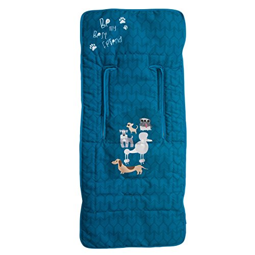 Babyline Dogs - Colchoneta ligera para silla de paseo, color azul