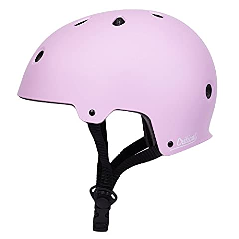 Critical Cycles 2426 Klassischer CM2 Helm, Pendlerrad/Skate/mehrere Sportarten - Matt Hellpink, L/59 - 63 cm