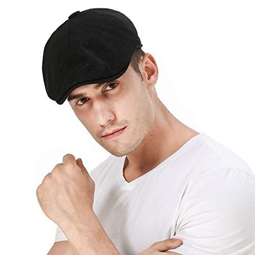 Nyuiuo Männer Frauen Weiche einfarbige Hüte Casul Breathable Sun Hats Adjustable Net Beret -