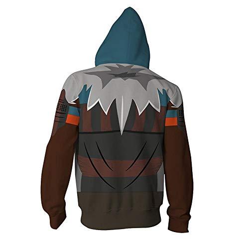 RJHWY 3D Hoodie Sweatshirt Unisex Pullover Kapuzenjacke Kleidung Mantel Reißverschluss Black Panther XXXL