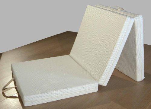 Futon colchón, plegable + 3 cm Viscoelastico con Almohada