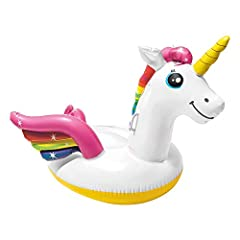 Idea Regalo - Intex 57561 - Cavalcabile Unicorno, Multicolore, 198 x 140 x 97 cm