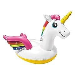 Idea Regalo - Intex 57561 - Cavalcabile Unicorno, Multicolore, 198 x 140 x 97 cm