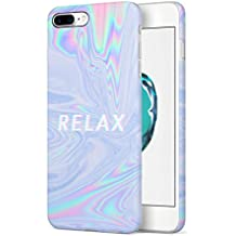 Trippy Tie Dye Rainbow Acid Relax Apple iPhone 7 PLUS SnapOn Hard Plastic Phone Protective Carcasa Cubierta Case Cover