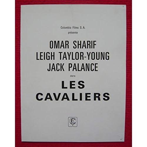 Dossier de presse de Les Cavaliers (1959) – 18x23cm, 4 p - Film de John Frankenheimer avec Omar Sharif, Leigh Taylor-Young, Jack Palance – Photos couleurs – résumé du scénario - Bon état