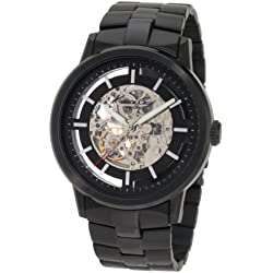 Kenneth Cole Men's Black Ion Plated Stainless Steel Bracelet Watch Kc3981