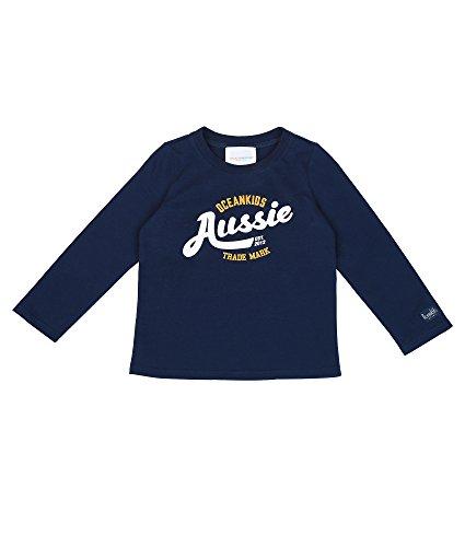 Oceankids Toddlers Mädchen Navy Blau Baumwolle Pullover mit Aussie Printing 24M 2 Jahre (Handschuh Force Air)