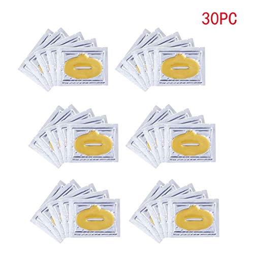 Luccase Lippenmaske 24 Karat Gold Feuchtigkeitsspendenden Komplex Feuchtigkeit Lippenmaske Kollagen Gesicht Auge Lippenmaske Gold Anti-Falten Maske (M) -