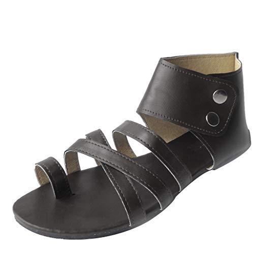Wawer✿ - Fashion Boden Zehen öffnen Rom High Heels SeilKnöchel Doppelknöpfe-Große Damenschuhe Frauen Espadrilles Lässig Sandalen Strandschuhe Einzelne Schuhe High Heels