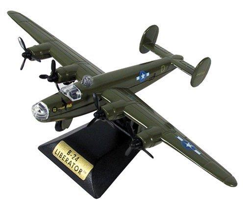 sky-wings-1100-scale-richmond-toys-motormax-b-24-liberator-die-cast-plane