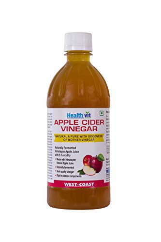 HealthVit Apple Cider Vinegar with Mother Vinegar, Raw, Unfiltered and...
