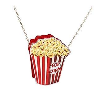 ODN Frauen Mädchen Umhängetaschen Niedliche Popcorn Eiscreme-geformte Kuriertaschen PU Handtaschen Tragetaschen,Popcorn