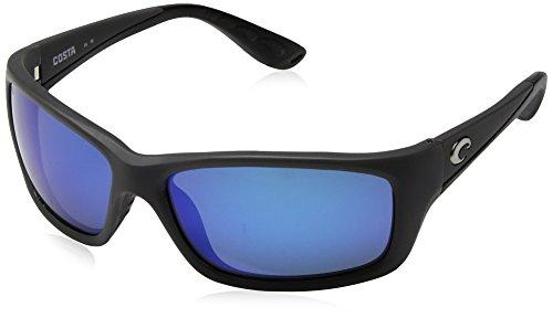 Costa Del Mar New Jo 98Jose matt grau rechteckig Sonnenbrille für Herren, Grau - Blue Mirror 580 Glass Lens - Größe: One Size