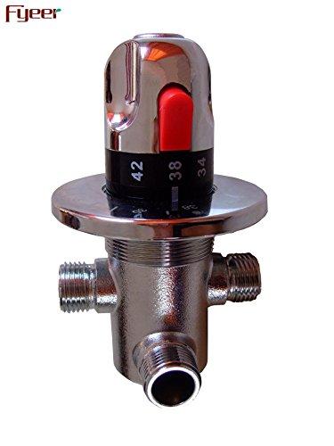 YSRBath Moderne Badzimmer Waschbecken Waschtischarmatur Badewanne Thermostatventil 59 Kupfer Thermostat Wanne Messing Mischbatterie Bad Küchenspüle Armaturen Wasserhahn -