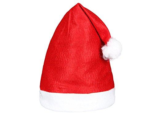Alsino set di 144 cappelli da babbo natale con pon pon (wm-32) rosso bianco di feltro per adulti uomo donna