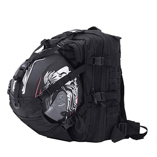 Giow Wasserdichte große Kapazität Motorrad Helmhalter/Fahrradhelm Lagerung/Wandern Helmcatch Tasche/Rucksack passen auch Basketball Fußball Fußball Rucksack schwarz