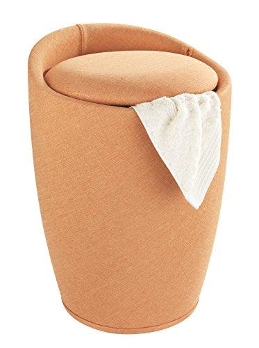 Wenko 22837100bagagliaio biancheria & Sgabello Candy Arancione aspetto Lino plastica